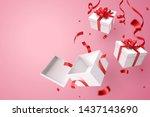 opened gift box  valentine's...   Shutterstock .eps vector #1437143690