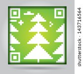 qr code with abstract pine  ... | Shutterstock .eps vector #143716564