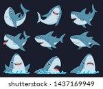 ocean shark mascot. scary... | Shutterstock .eps vector #1437169949