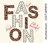 fashion slogan graphic for t... | Shutterstock .eps vector #1437189893