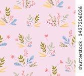 autumn theme seamless pattern...   Shutterstock .eps vector #1437206036