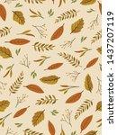 autumn theme seamless pattern...   Shutterstock .eps vector #1437207119