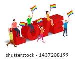 love parade concept...   Shutterstock .eps vector #1437208199
