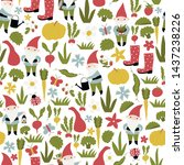 seamless vector pattern with...   Shutterstock .eps vector #1437238226