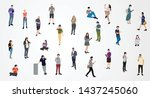 group of male and female... | Shutterstock .eps vector #1437245060