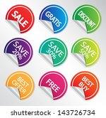 set of discount labels. vector... | Shutterstock .eps vector #143726734