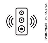 speaker icon in trendy outline...