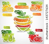 vector illustration of colorful ... | Shutterstock .eps vector #143727634