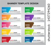 set of modern banners... | Shutterstock .eps vector #1437294260