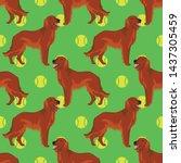 Irish Red Setter Dog Seamless...
