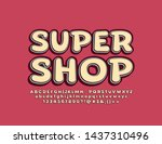 vector stylish logo super shop. ... | Shutterstock .eps vector #1437310496