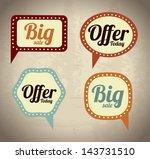 shopping bubbles over beige... | Shutterstock .eps vector #143731510