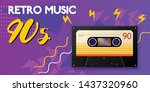 realistic vintage music...   Shutterstock .eps vector #1437320960