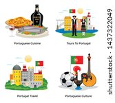 portugal tourism concept icons... | Shutterstock .eps vector #1437322049