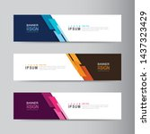 vector abstract banner design... | Shutterstock .eps vector #1437323429