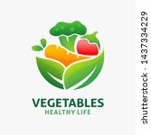 logo design of organic food and ... | Shutterstock .eps vector #1437334229
