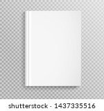 blank book cover  placed on...   Shutterstock .eps vector #1437335516