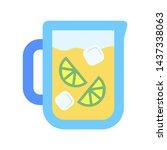 cool lemondae jar icon. flat... | Shutterstock .eps vector #1437338063
