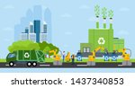 green city and waste management ... | Shutterstock .eps vector #1437340853