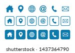 web icon set. website set icon... | Shutterstock .eps vector #1437364790