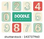 doodle number over white... | Shutterstock .eps vector #143737960