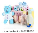 baby accessories isolated on... | Shutterstock . vector #143740258