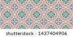 tie dye geometric print.... | Shutterstock . vector #1437404906