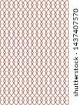 seamless geometric ornamental... | Shutterstock .eps vector #1437407570