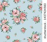 seamless watercolor pattern... | Shutterstock . vector #1437424583