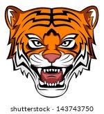 tiger roar | Shutterstock .eps vector #143743750