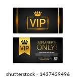 vip club cards  members only... | Shutterstock . vector #1437439496