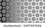 black white convex flowers and... | Shutterstock . vector #1437447656