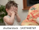 boy playing hide and seek game... | Shutterstock . vector #1437448769