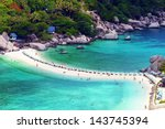 nang yuan island viewpoint  ... | Shutterstock . vector #143745394