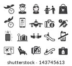 airport icons set | Shutterstock .eps vector #143745613