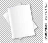 the layout of the two white...   Shutterstock .eps vector #1437475763