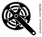 vector bicycle cogwheel... | Shutterstock .eps vector #143748538