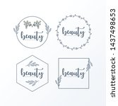 floral logo bundle pack ready... | Shutterstock .eps vector #1437498653