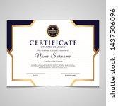 elegant blue and gold diploma... | Shutterstock .eps vector #1437506096