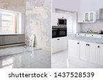 before and after of modern... | Shutterstock . vector #1437528539