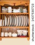 Old Wooden Dresser For Dishwar...