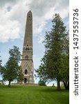 Saratoga Monument, Stone Obelisk in Saratoga County, Part of Saratoga Battlefield National Historical Park, Upstate NY, USA Built in 1877-1882