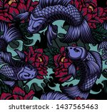 colored seamless pattern in... | Shutterstock . vector #1437565463