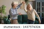 joyful active old retired... | Shutterstock . vector #1437576326