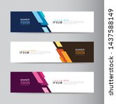 vector abstract banner design...