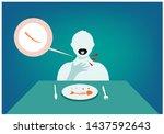 a sharp fragment of a fish bone ... | Shutterstock .eps vector #1437592643