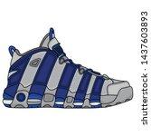 basketball shoes vector design  ... | Shutterstock .eps vector #1437603893