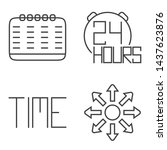 line art clock icons time for...