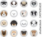 set of dogs vector illustration.... | Shutterstock .eps vector #1437631610