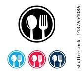restaurant cutlery. circular...